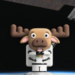 Render 7.png Télécharger fichier STL Rudolf, l'astronaute • Modèle pour imprimante 3D, camilaval