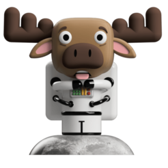 Render 1.png Download STL file Art Toy, Astronaut Moose • 3D printing design, camilaval