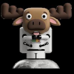 Render 1.png Télécharger fichier STL Art Toy, Astronaute Moose • Plan pour impression 3D, camilaval
