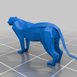 Download free STL file low poly tiger • 3D printable template, mtstksk