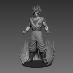 Download STL Son Goku Dragon Ball fan-art statue 3dprint, the_le_thonkk