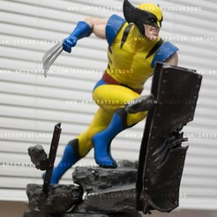 DSC_0004.jpg Download STL file Wolverine Fan Art Statue 3d Printable • 3D printing object, Gregorius_Pambudi