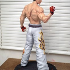Download 3D printer designs Kazuya Mishima Fan Art Statue 3d Printable, the_le_thonkk