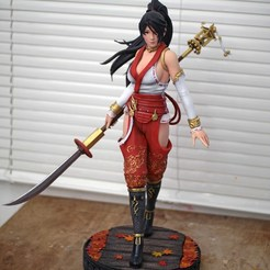 Download 3D printer templates Momiji Dead or Alive Fan Art Statue 3d Printable, the_le_thonkk