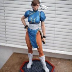 Download 3D printer model Chun Li Street Fighter Fan-art Statue, the_le_thonkk