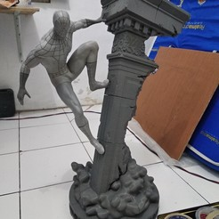 Download STL files Spiderman statue fan art 3d print, the_le_thonkk