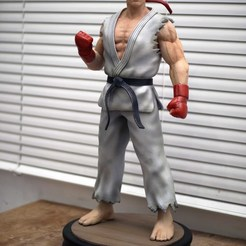 IMG_1077.jpg Download STL file Ryu Street Fighter Fan-art Statue • 3D printer template, Gregorius_Pambudi