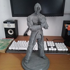 Télécharger plan imprimante 3D Tekken Jin Kazama statue d'art fan de Jin Kazama, the_le_thonkk