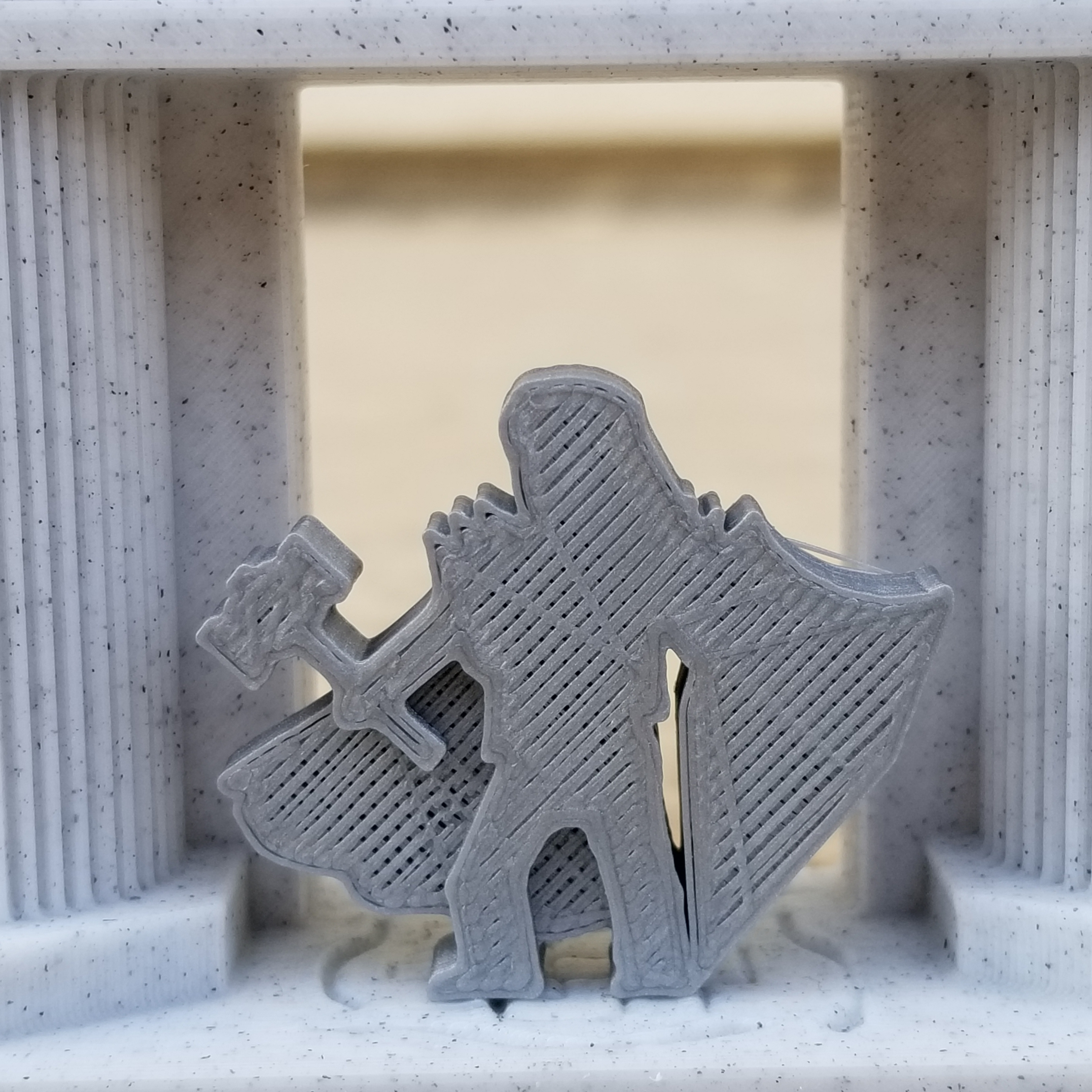 Hammer Knight Meeple.jpg Download STL file Long-Haired Hammer Knight Meeple • 3D print design, Ellie_Valkyrie