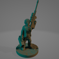 Femme_Agent_Sniper_Case.png Download free STL file Cyberpunk Sniper Agent (No Supports Needed!) • 3D printer template, Ellie_Valkyrie