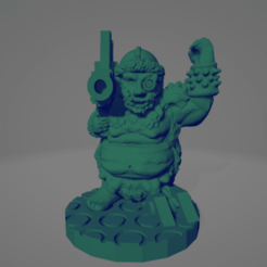 Space Orc Rocket Launcher.png Download STL file Cyber-Orquindi With Rocket Launcher • 3D printer template, Ellie_Valkyrie