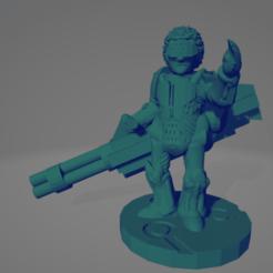 Minigun Cybersoldier.png Télécharger fichier STL Cybersoldat Minigun • Modèle à imprimer en 3D, Ellie_Valkyrie