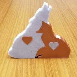 20201117_090614.jpg Télécharger fichier STL gratuit Cadeau d'amour Renard + Loup • Plan pour imprimante 3D, Ellie_Valkyrie