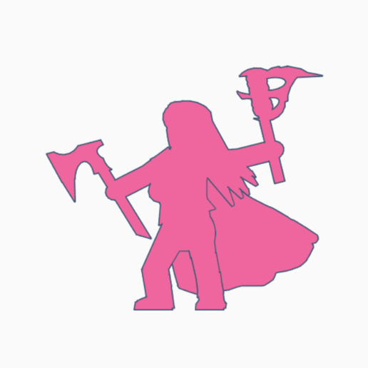 Leena Axefire.png Download STL file Long-Haired Axe Torch Meeple • 3D printable design, Ellie_Valkyrie