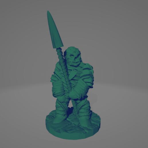 Mummified Spearman.png Download STL file Mummified Spearman • 3D print model, Ellie_Valkyrie
