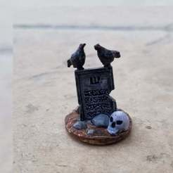 Raven_Grave.jpg Download free STL file Raven Grave • 3D printer model, Ellie_Valkyrie