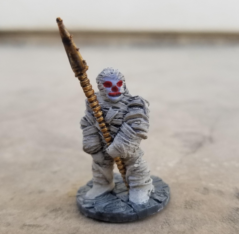 Mummified Spearman.jpg Download STL file Mummified Spearman • 3D print model, Ellie_Valkyrie