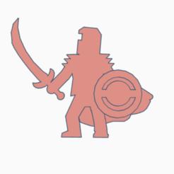Scimitar Knight With Shield.png Télécharger fichier STL Chevalier cimeterre avec bouclier • Design à imprimer en 3D, Ellie_Valkyrie