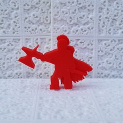 Barbarian Poleaxe Meeple.jpg Download STL file Barbarian Halberdier Meeple • 3D printing template, Ellie_Valkyrie