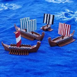 Download free 3D printing models Viking Long Ships for Ortus Novae: Trireme, Ellie_Valkyrie