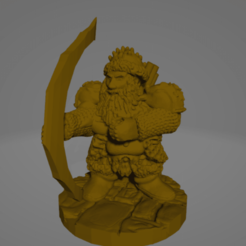 Dwarf Archer.png Download STL file Dwarf Archer Veteran • 3D printer design, Ellie_Valkyrie