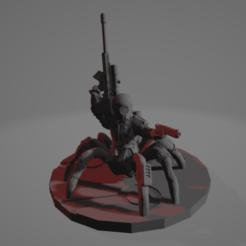 Cyber_Drider_Sniper.png Télécharger fichier STL gratuit Cyber Drider Sniper • Modèle pour impression 3D, Ellie_Valkyrie