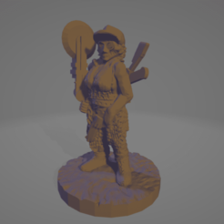 Sawblade_Betty.png Download free STL file Sawblade Betty, Wasteland Amazon • 3D printable design, Ellie_Valkyrie