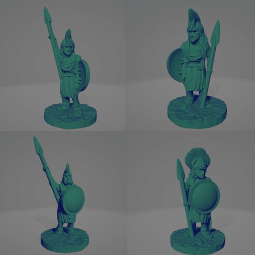 Amazon Spear Hoplites.png Download STL file Amazon Spear Hoplites • 3D print design, Ellie_Valkyrie