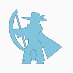 Featherhat Bowman.png Download STL file Feather-Hat Bowman Meeple • Design to 3D print, Ellie_Valkyrie
