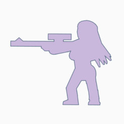 Download 3D printer templates Long Hair Femme Sniper Rifle Meeple, Ellie_Valkyrie