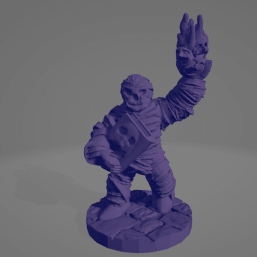Mummy Necronomicon Cultist.png Download STL file Mummy Necronomicon Cultist • Object to 3D print, Ellie_Valkyrie