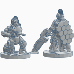 Command_1.png Download free STL file Cyberfemme Command Pack • 3D printable template, Ellie_Valkyrie