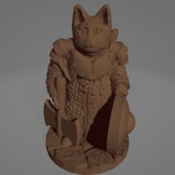 Cat-Kin.png Download STL file Cat-Kin Adventurer With Big Axe • 3D printer template, Ellie_Valkyrie
