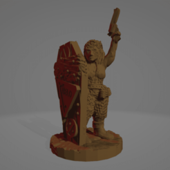 Coffin-Lid Corrine.png Download STL file Coffin-Lid Corrine, Wasteland Amazon (No Supports Needed!) • 3D print template, Ellie_Valkyrie