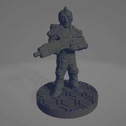 Mohawk_Soldier.png Download free STL file Astronaut Soldier With Mohawk (28mm) • 3D printable model, Ellie_Valkyrie