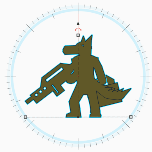 Download 3D printer files Canid With Rifle And Case Meeple, Ellie_Valkyrie