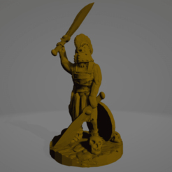 Amazon Hoplite Dual Swords.png Download STL file Support-Free Amazon Hoplite Hero With Dual Swords • Design to 3D print, Ellie_Valkyrie