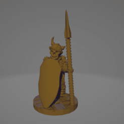 Broken Horn Spear Warrior.png Download STL file Undead Raider Spear Sentry • 3D print model, Ellie_Valkyrie