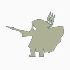 Heavy Cloak Javelineer.png Download STL file Heavy Cloak Javelineer Meeple • Model to 3D print, Ellie_Valkyrie