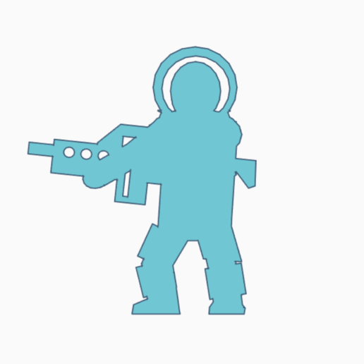 Astronaut Rifle Carry.png Download STL file Rifle Carrying Astronaut Meeple • 3D printer design, Ellie_Valkyrie