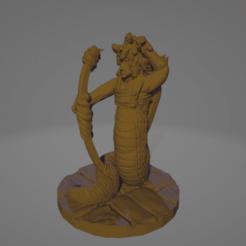 Gorgon Archer Pull.png Download STL file Support-Free Gorgon Archer Pulling Bow • 3D printable design, Ellie_Valkyrie