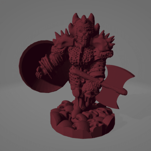 Armored Goddess.png Download STL file Armored Berserker Huntress With Axe • 3D printable template, Ellie_Valkyrie