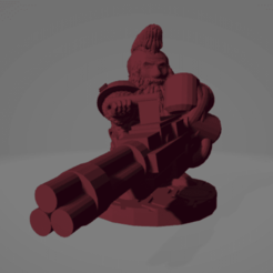 Space Dwarf.png Download STL file Gatling Laser Mohawk Space Dwarf • 3D printable design, Ellie_Valkyrie