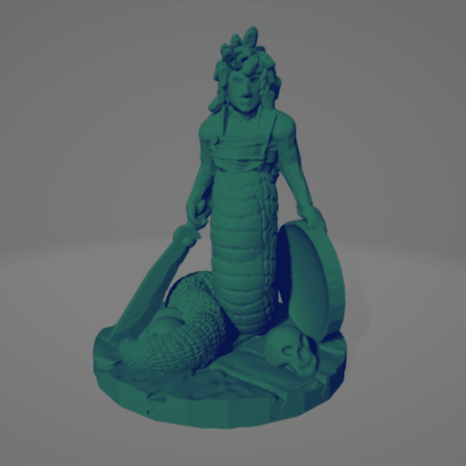 Medusa Sword Shield.png Download STL file Support-Free Medusa • 3D print object, Ellie_Valkyrie