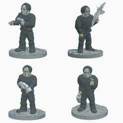 Cardies.jpg Download free STL file Classic Cardassians • 3D print template, Ellie_Valkyrie
