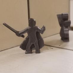 Dapper Fencer Meeple.png Download STL file Dapper Fencer Meeple • 3D printable model, Ellie_Valkyrie