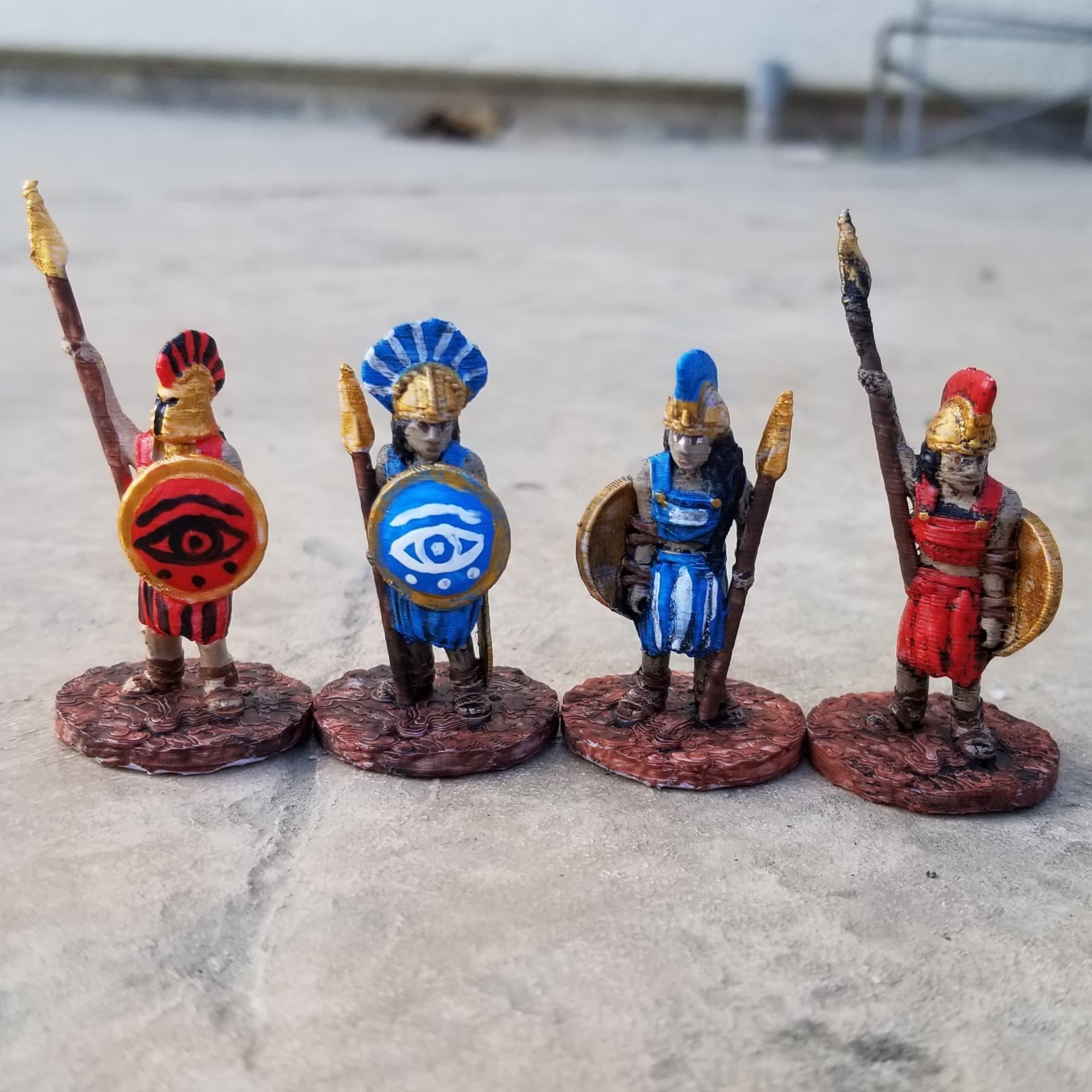 Spear Hoplites.jpg Download STL file Amazon Spear Hoplites • 3D print design, Ellie_Valkyrie