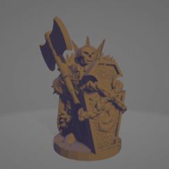 Death Knight Double Axe.png Télécharger fichier STL Chevalier de la mort avec une grosse hache • Objet imprimable en 3D, Ellie_Valkyrie
