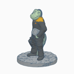 Saurian_Technician.png Download free STL file Saurian Starfleet Technician • Object to 3D print, Ellie_Valkyrie