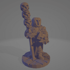 Hootkin Necromancer.png Download STL file Hootkin Necromancer • 3D printing object, Ellie_Valkyrie